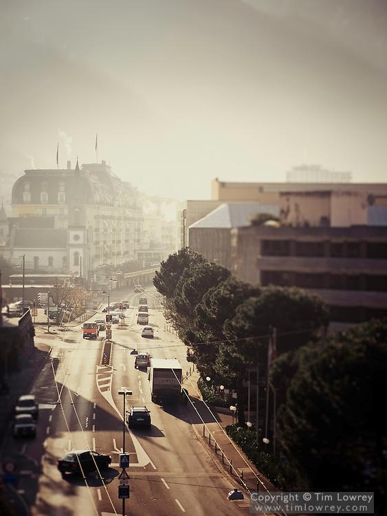 Rue de Lac, Montreux in the Morning Mist