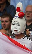 Men's Olympic Football match Spain v Japan on 26.7.12...Japanese fan, during the Spain v Japan Men's Olympic Football match at Hampden Park, Glasgow...Picture John Millar / ProLens PhotoAgency / PLPA.Thursday 26th July 2012......................
