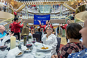 COSTA CROCIERE: sala principale per la cena e colazione buffet. the main room , saloon for a la carte  dinner and buffet breakfast. an improvised dance staged by the waiters during dinner