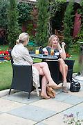 ROSANNA CRAWLEY; HOLLY JOHNSTONE, Archant Summer party. Kensington Roof Gardens. London. 7 July 2010. -DO NOT ARCHIVE-© Copyright Photograph by Dafydd Jones. 248 Clapham Rd. London SW9 0PZ. Tel 0207 820 0771. www.dafjones.com.