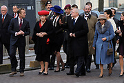 Staatsbezoek van de President van Slowakije , Zijne Excellentie president Ivan Gasparovic en zijn echtgenote Silvia Gasparovicova.<br /> <br /> Statevisit of the President of  Slowakije Ivan Gasparovic and his wife  Silvia Gasparovicova.<br /> <br /> Op de foto/ On the photo: <br /> <br />  Koningin Beatrix en de president van Slowakije Ivan Gasparovic brengen een bezoek aan het restauratieafdeling van het Rijksmuseum.<br /> <br /> Queen Beatrix and the President of Slovakia Ivan Gasparovic will visit the restoration department of the Rijksmuseum.