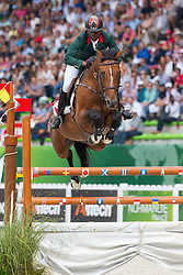 Abdelkebir Ouaddar, (MAR), Quickly De Kreisker - World Champions, - Second Round Team Competition - Alltech FEI World Equestrian Games™ 2014 - Normandy, France.<br /> © Hippo Foto Team - Leanjo De Koster<br /> 25/06/14