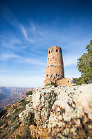 Desert View Watchtower, also known as the Indian Watchtower at Desert View, is a 70-foot (21 m)-high stone building located on the South Rim of the Grand Canyon within Grand Canyon National Park in Arizona, United States.