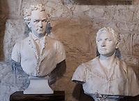 Stephen F. Austin and Sam Houston Sculptures at Elizabet Ney Museum, Austin, Texas