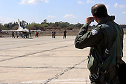 Israeli Air Force (IAF) pilot on route to his F-16C (Barak) Fighter jet