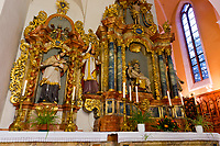 A baroque organ by Gottfried Silbermann, Monastery of Our Lady of Offenburg (Capuchin Monastery), Offenburg, Baden-Württemberg, Germany