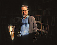 "Gary Snyder (born May 8, 1930) is an American man of letters. Perhaps best known as a poet (often associated with the Beat Generation and the San Francisco Renaissance), he is also an essayist, lecturer, and environmental activist. He has been described as the ""poet laureate of Deep Ecology""[2]). Snyder is a winner of a Pulitzer Prize for Poetry. His work, in his various roles, reflects an immersion in both Buddhist spirituality and nature. Snyder has translated literature into English from ancient Chinese and modern Japanese. For many years, Snyder served as a faculty member at the University of California, Davis, and he also served for a time on the California Arts Council.  (from Wikipedia)<br /> <br /> He was photographed at his home in the Sierra foothills near Nevada City in October, 1990."