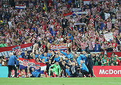 MOSCOW, July 11, 2018  Players of Croatia pose for a group photo after the 2018 FIFA World Cup semi-final match between England and Croatia in Moscow, Russia, July 11, 2018. Croatia won 2-1 and advanced to the final. (Credit Image: © Yang Lei/Xinhua via ZUMA Wire)