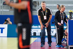 10-12-2014 CRO: EHF EK Nederland - Zweden, Varazdin<br /> Henk Groener, head coach of Netherlands during handball match between Netherlands and Sweden at 11th EHF European Women's Handball Championship Hungary-Croatia 2014<br /> *** USE NETHERLANDS ONLY ***
