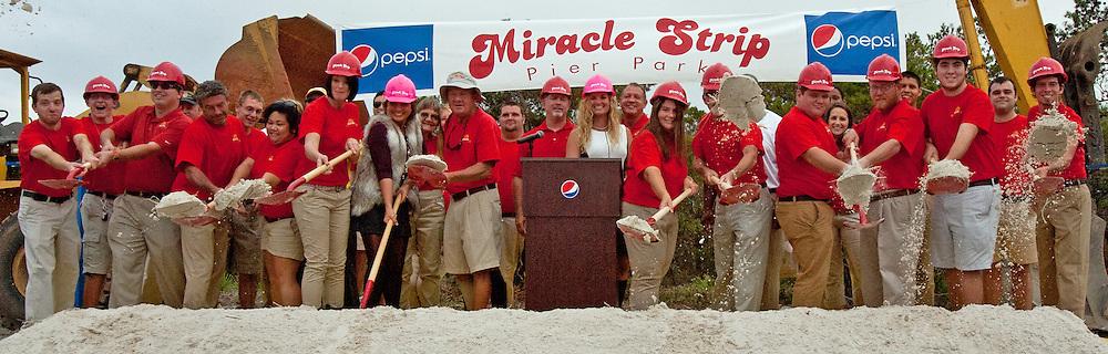 MIRACLE STRIP GROUND BREAKING CEREMONY, PANAMA CITY BEACH, FLORIDA