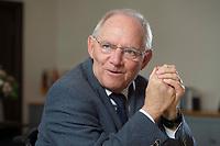 23 FEB 2016, BERLIN/GERMANY:<br /> Wolfgang Schaeuble, CDU, Bundesfinanzminister, waehrend einem Interview, in seinem Buero, Bundesministerium der Finanzen<br /> IMAGE: 20160223-01-006<br /> KEYWORDS: Wolfgang Schäuble