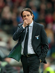 12.04.2018, Red Bull Arena, Salzburg, AUT, UEFA EL, FC Salzburg vs SS Lazio Roma, Viertelfinale, Rueckspiel, im Bild Trainer Simone Inzaghi (SS Lazio Roma) nach dem Gegentor // during the UEFA Europa League Quaterfinal, 2nd Leg Match between FC Salzburg and SS Lazio Roma at the Red Bull Arena in Salzburg, Austria on 2018/04/12. EXPA Pictures © 2018, PhotoCredit: EXPA/ JFK