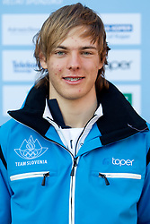 Aljaz Praznik at Official photo of  Slovenia Cross-country Skiing team for  European Youth Olympic Festival (EYOF) in Liberec (CZE) at official presentation, on February  9, 2011 at Bled Castle, Slovenia. (Photo By Vid Ponikvar / Sportida.com)