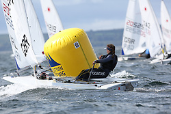 Day 4 NeilPryde Laser National Championships 2014 held at Largs Sailing Club, Scotland from the 10th-17th August.<br /> <br /> 205649, Sophie HERITAGE<br /> <br /> Image Credit Marc Turner