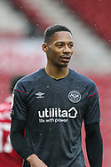 Portrait of Brendford defender Ethan Pinnock (5) during the EFL Sky Bet Championship match between Middlesbrough and Brentford at the Riverside Stadium, Middlesbrough, England on 6 February 2021.