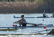 Brandenburg. GERMANY. B Final. womens Single Scull. GBR W1X Mathilda HODGKINS-BYRNE.<br /> 2016 European Rowing Championships at the Regattastrecke Beetzsee<br /> <br /> Sunday  08/05/2016<br /> <br /> [Mandatory Credit; Peter SPURRIER/Intersport-images]