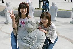 Two Woman, Gyeongbok Palace, National Folk Museum