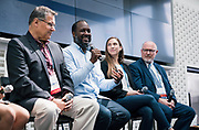 Elmer Moore from Scale Up Milwaukee at the Wisconsin Entrepreneurship Conference at Venue 42 in Milwaukee, Wisconsin, Wednesday, June 5, 2019.