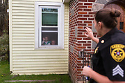 Sergeant Crumley waves goodbye to her daughter Taylor, and son Andrew as she leaves home. Taylor bears a strong resemblance to her mother, and despite being young exemplifies a strong character much like Sergeant Crumley's, while Andrew misses his mother dearly even before she is out of view.