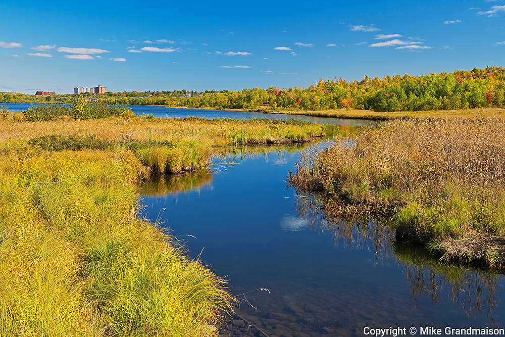 Robinson Lake and inlet. Kelly Lake Road.<br />Greater Sudbury<br />Ontario<br />Canada
