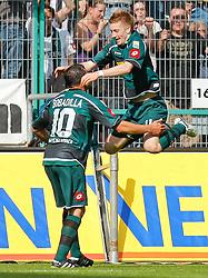 24.04.2010, Borussia_Park, M^nchengladbach (Moenchengladbach), GER, 1.FBL, Borussia M^nchengladbach vs Bayern M¸nchen (Muenchen), im Bild: 1:0 Torsch¸tze Marco Reus (M^chengladbach - GER #11) jubelt mit R·ul  / Raul Bobadilla (M^chengladbach - ARG #10), EXPA Pictures © 2010, PhotoCredit: EXPA/ nph/  Scholz *** Local Caption *** / SPORTIDA PHOTO AGENCY
