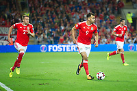 Football - 2017 / 2018 _Wales v Austria_FIFA World Cup Qualifier 2018<br /> <br /> Hal Robson-Kanu of Wales attacks--- at Cardiff City Stadium.<br /> <br /> COLORSPORT/WINSTON BYNORTH