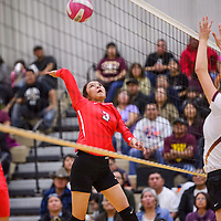Crownpoint Eagle Daliah Begay (3) takes a shot at the Rehoboth Lynx Saturday at Rehoboth High School.