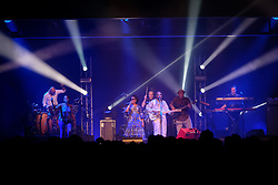 October 6, 2018 - Turin, Italy - For the only Italian date of their tour, the copy of African musicians from Mali Amadou & Mariam on the stage of the OGR ''Officine Grandi Rirparazioni'' Turin for the Africa Now music festival. (Credit Image: © Bruno Brizzi/Pacific Press via ZUMA Wire)