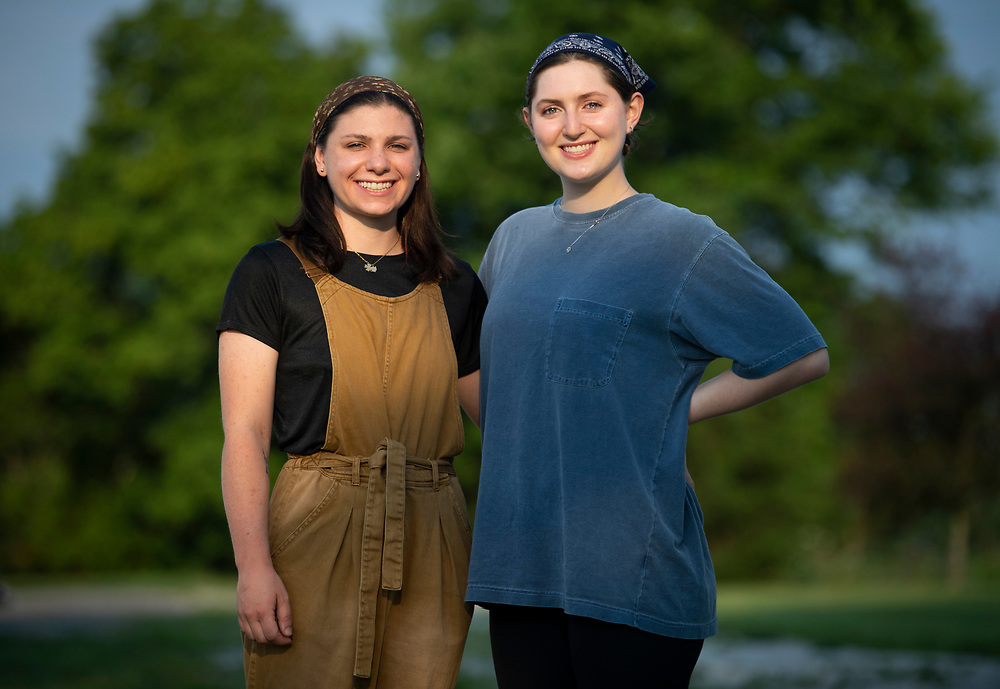 Shai Bardin and Carolyn Rogers, left
