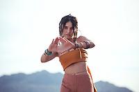 Ecstatic dancer and Reiki healer woman.