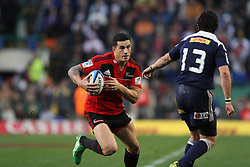 Crusaders centre Sonny Bill Williams attempts to get past Stormers centre Jaque Fourie during the Super Rugby Semi-Final match between DHL Stormers and the Crusaders held at DHL Newlands Stadium in Cape Town, South Africa on 2 July 2011...Photo by Shaun Roy / Sportzpics.net