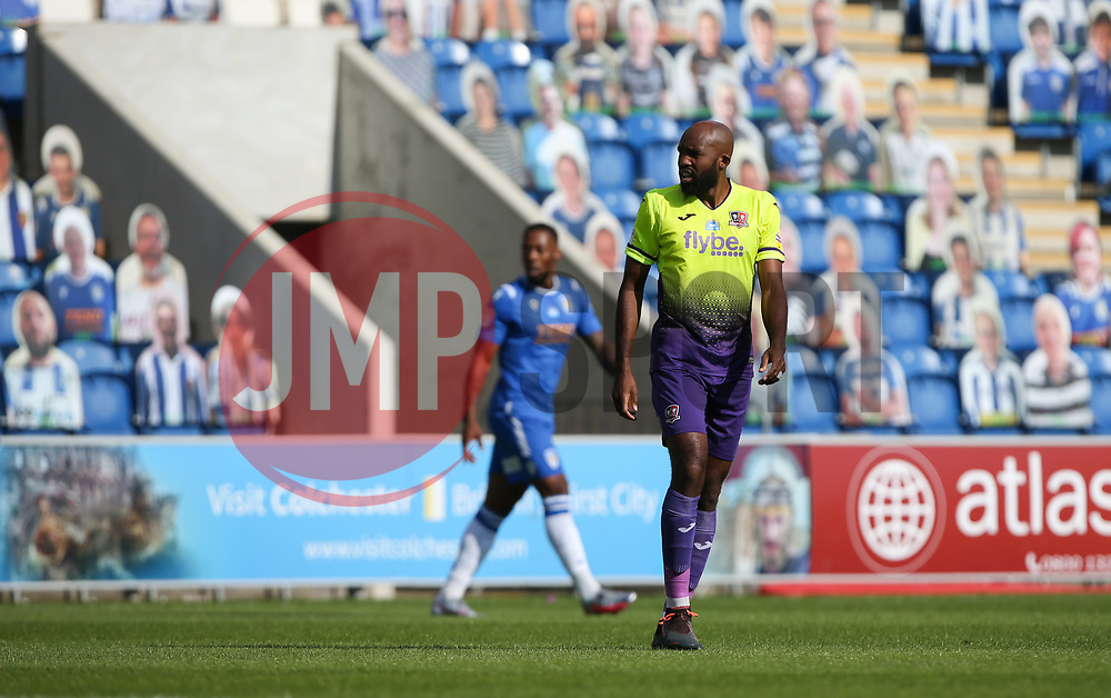 Nigel Atangana of Exeter City - Mandatory by-line: Arron Gent/JMP - 18/06/2020 - FOOTBALL - JobServe Community Stadium - Colchester, England - Colchester United v Exeter City - Sky Bet League Two Play-off 1st Leg