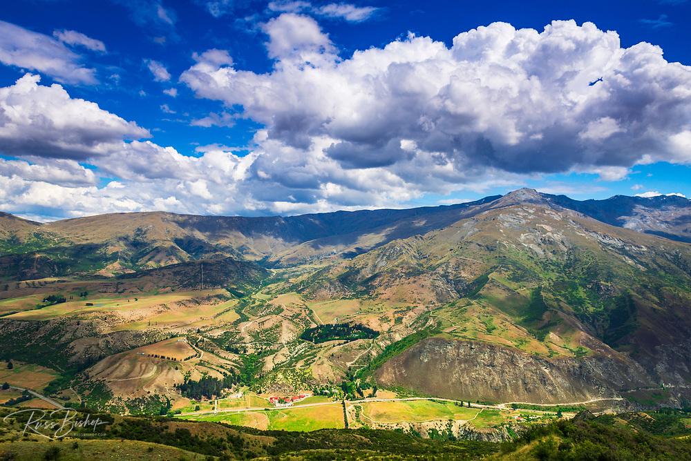 Gibbston Valley from the Crown Range Overlook, Otago, South Island, New Zealand