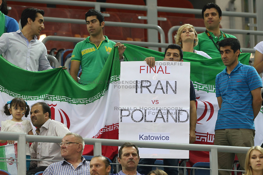 07.09.2014, Krakow Arena, Krakau, POL, FIVB WM, Iran vs Puerto Rico, Gruppe D, im Bild KIBICE IRAN // during the FIVB Volleyball Men's World Championships Pool D Match beween Iran and Puerto Rico at the Krakow Arena in Krakau, Poland on 2014/09/07. <br /> <br /> ***NETHERLANDS ONLY***