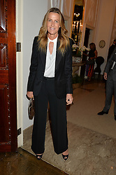INDIA HICKS at a party to kick off London Fashion Week hosted by US Ambassador Matthew Barzun and Mrs Brooke Brown Barzun with Alexandra Shulman in association with J.Crew hrld at Winfield House, Regent's Park, London on 18th September 2015.
