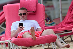 EXCLUSIVE: Coleen Rooney flaunts bikini body on the beach in Barbados. 20 May 2018 Pictured: Coleen Rooney and Wayne Rooney. Photo credit: MEGA TheMegaAgency.com +1 888 505 6342
