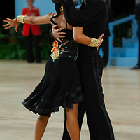 Dimitriy Barov & Liana Fran from Germany perform their dance during the Amateur Rising Stars Latin-american competition of the UK Open Dance Championships held at the International Centre in Bournemouth, United Kingdom on Tuesday, 22. January 2008. ATTILA VOLGYI