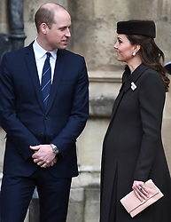 Members of The Royal Family attend Easter Service at St George's Chapel, Windsor Castle, Windsor, Berkshire, UK, on the 1st April 2018. 01 Apr 2018 Pictured: Prince William, Duke of Cambridge, Catherine, Duchess of Cambridge, Kate Middleton. Photo credit: James Whatling / MEGA TheMegaAgency.com +1 888 505 6342