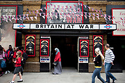 The Winston Churchill's Britain at War Experience is a themed museum located in central London, which recalls the London Blitz. Amongst the exhibits is a recreation of a London Underground air raid shelter. It is always busy here with people and school children queueing up to visit.