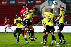 Kasey Palmer of Bristol City scores a headed goal which is disallowed - Rogan/JMP - 16/09/2020 - Ashton Gate Stadium - Bristol, England - Bristol City v Northampton Town - Carabao Cup Second Round.