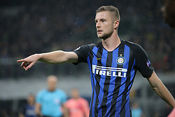 November 6, 2018 - Milan, Milan, Italy - Milan Skriniar #37 of FC Internazionale Milano during  the UEFA Champions League group B match between FC Internazionale and FC Barcelona at Stadio Giuseppe Meazza on November 06, 2018 in Milan, Italy. (Credit Image: © Giuseppe Cottini/NurPhoto via ZUMA Press)
