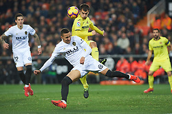 January 26, 2019 - Valencia, Valencia, Spain - Rodrigo Moreno of Valencia CF and Manu Trigueros of Villarreal CF during the La Liga Santander match between Valencia and Villarreal at Mestalla Stadium on Jenuary 26, 2019 in Valencia, Spain. (Credit Image: © Maria Jose Segovia/NurPhoto via ZUMA Press)