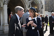 SIR TOBIAS CLARKE; LUCY LINDSAY-HOGG, Service of thanksgiving for  Lord Snowdon, St. Margaret's Westminster. London. 7 April 2017