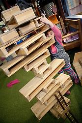 North America, United States, Washington, Bellevue, KidsQuest Children's Museum.  PR