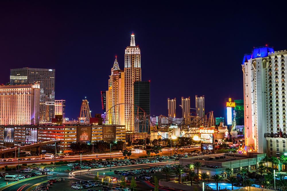 Tropicana Avenue featuring Monte Carlo, Mandarin Oriental, NYNY, MGM Grand & Excalibur Hotels