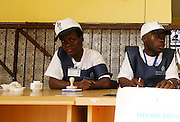 Delegates from a polling station in Luanda during the election of 2012 general elections that took place today August 31.