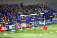 Cut out of fans behind the goal at New Plough Lane during the EFL Trophy match between AFC Wimbledon and U21 Arsenal at Plough Lane, London, United Kingdom on 8 December 2020.