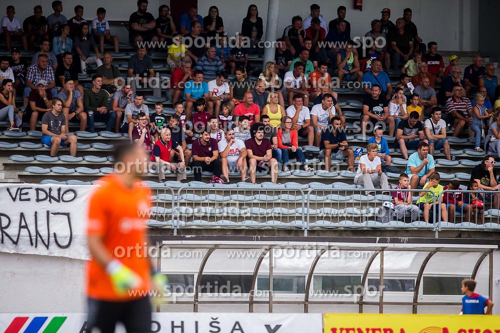 Spectators during football match between NK Triglav Kranj and ND Gorica in 6th Round of Prva liga Telekom Slovenije 2017/18, on August 19, 2017 in Sports park Kranj, Kranj. Photo by Ziga Zupan / Sportida