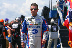 July 29, 2018 - Long Pond, PA, U.S. - LONG POND, PA - JULY 29:  Monster Energy NASCAR Cup Series driver AJ Allmendinger Kroger Checklist Chevrolet (47) during driver introductions prior to the Monster Energy NASCAR Cup Series - 45th Annual Gander Outdoors 400 on July 29, 2018 at Pocono Raceway in Long Pond, PA. (Photo by Rich Graessle/Icon Sportswire) (Credit Image: © Rich Graessle/Icon SMI via ZUMA Press)