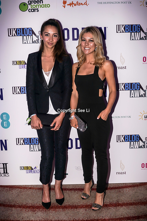 Westminster, UK. 20th Apr, 2017. Jessica Rose & Katie Jones attends The annually National UK Blog Awards at Park Plaza Westminster Bridge, London. by See Li